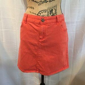 Tommy Hilfiger coral jean skirt